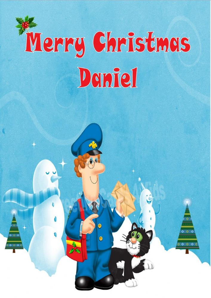 Personalised Postman Pat Christmas Card